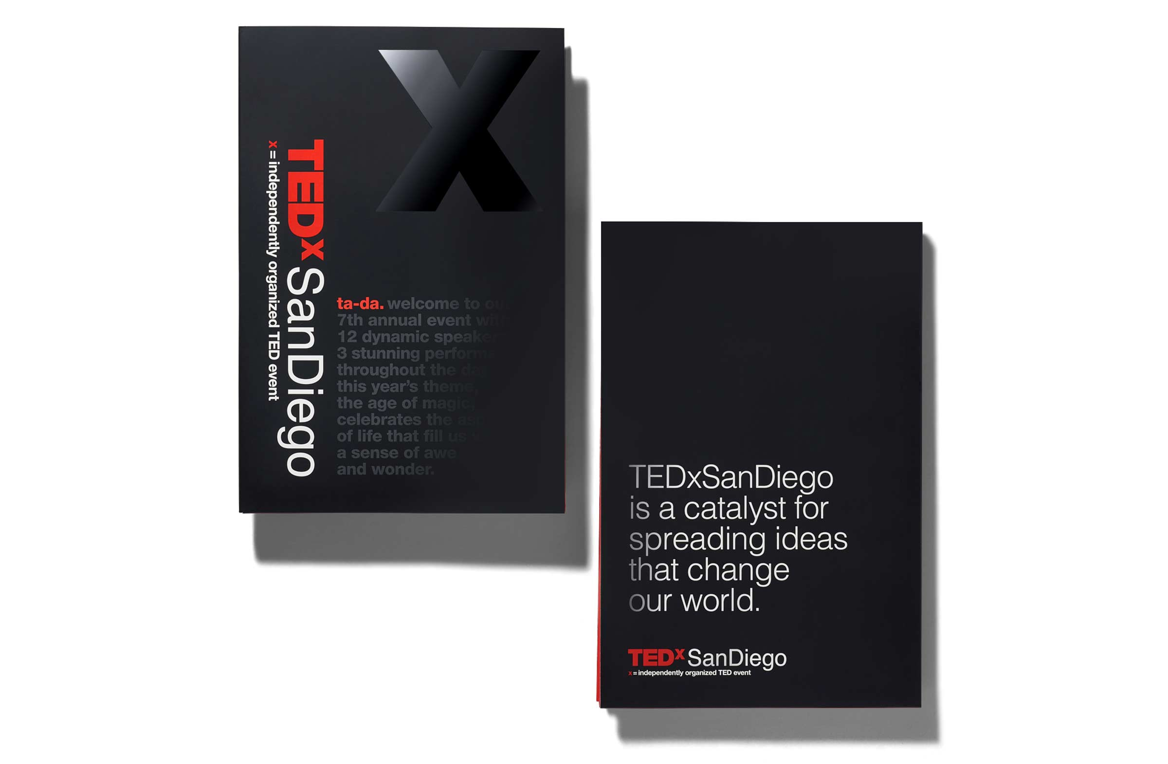 Tedx San Diego Folder with Spot Varnish