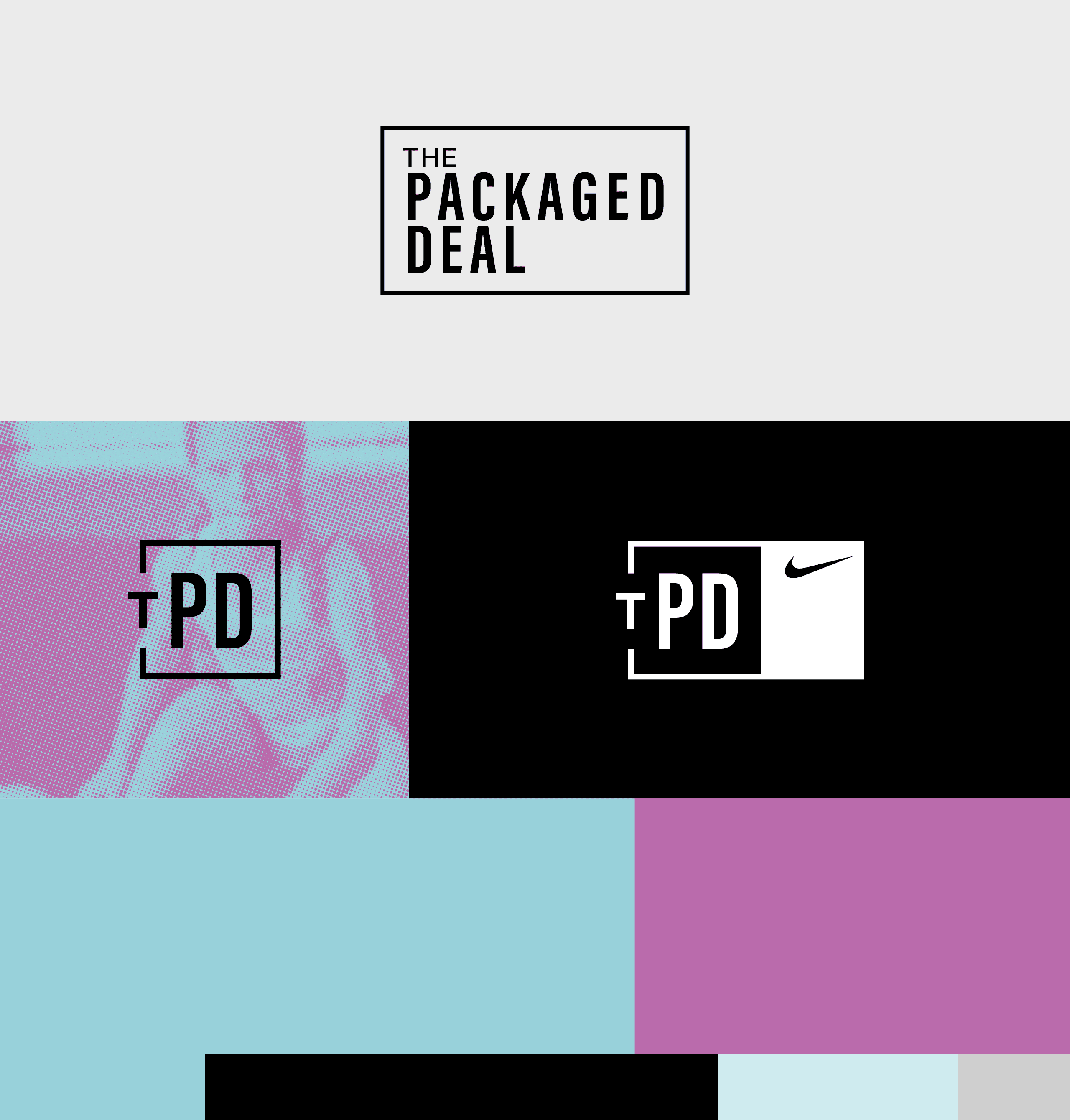 The Packaged Deal Identity and Color Palette