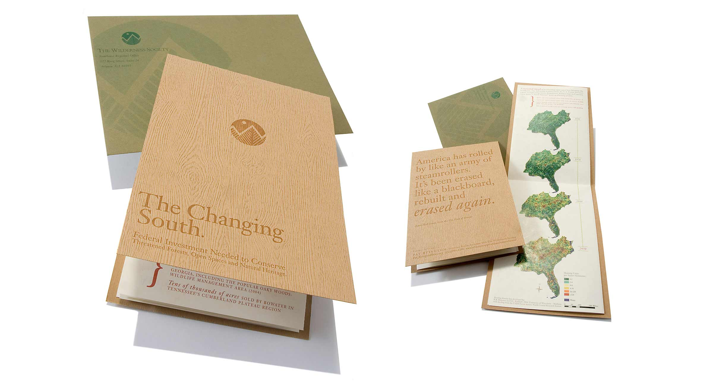 Wilderness Society Brochure and Envelope