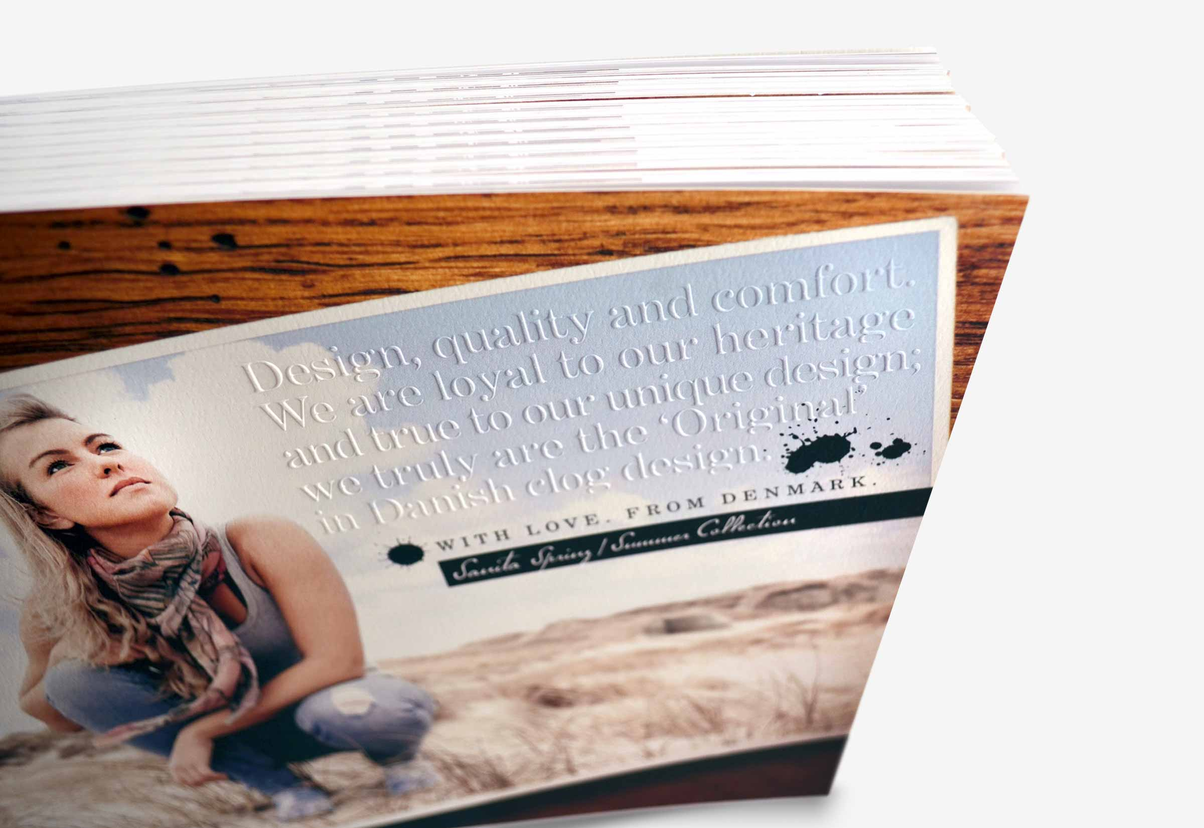 Sanita Catalog Letterpress Cover