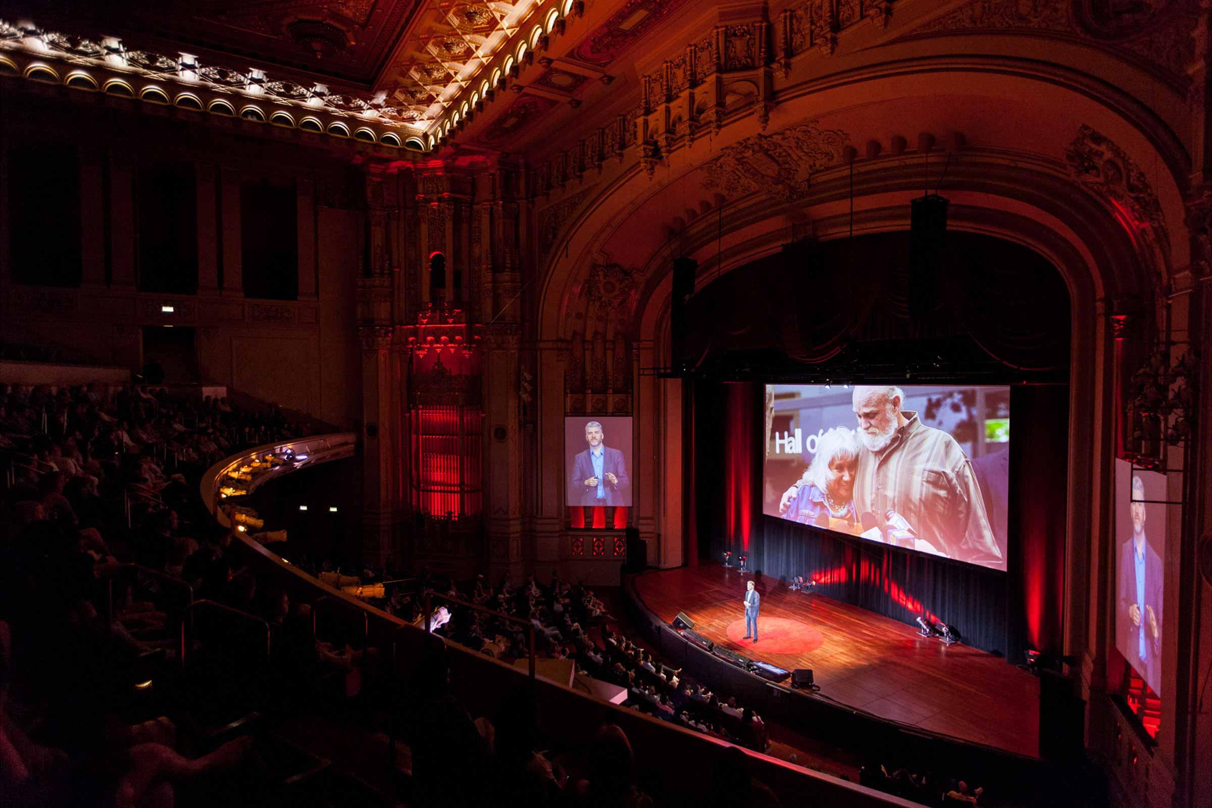 Tedx San Diego Speaker in Auditorium