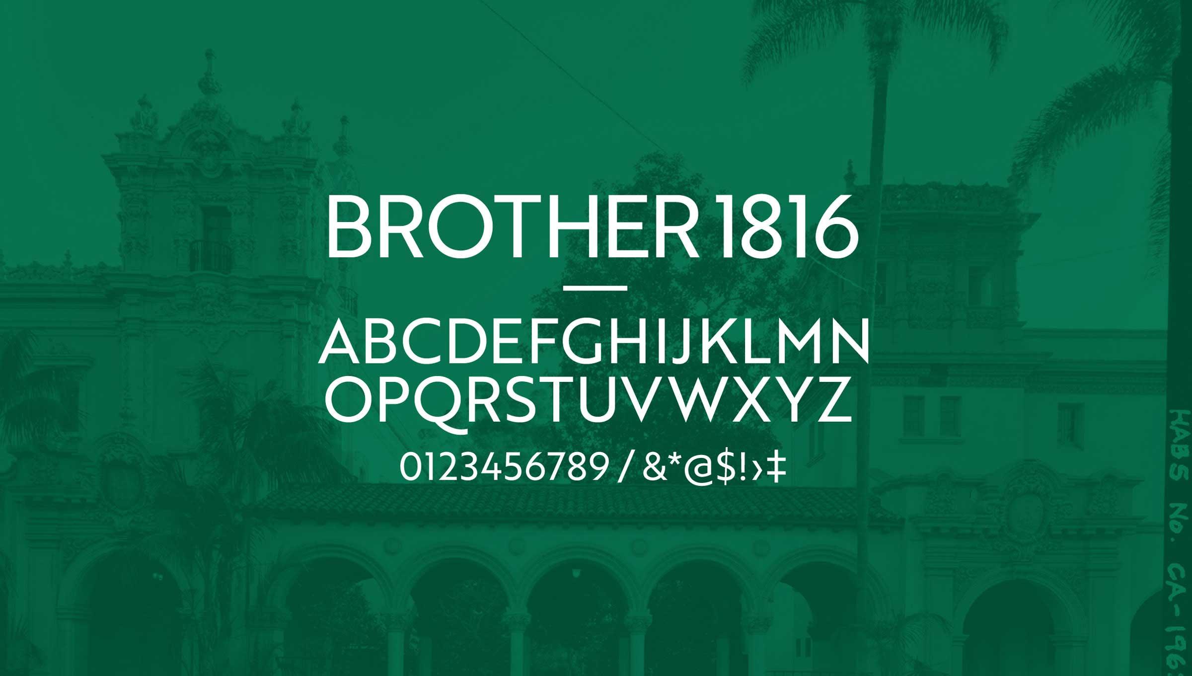 Balboa Park Conservancy Brand Typography