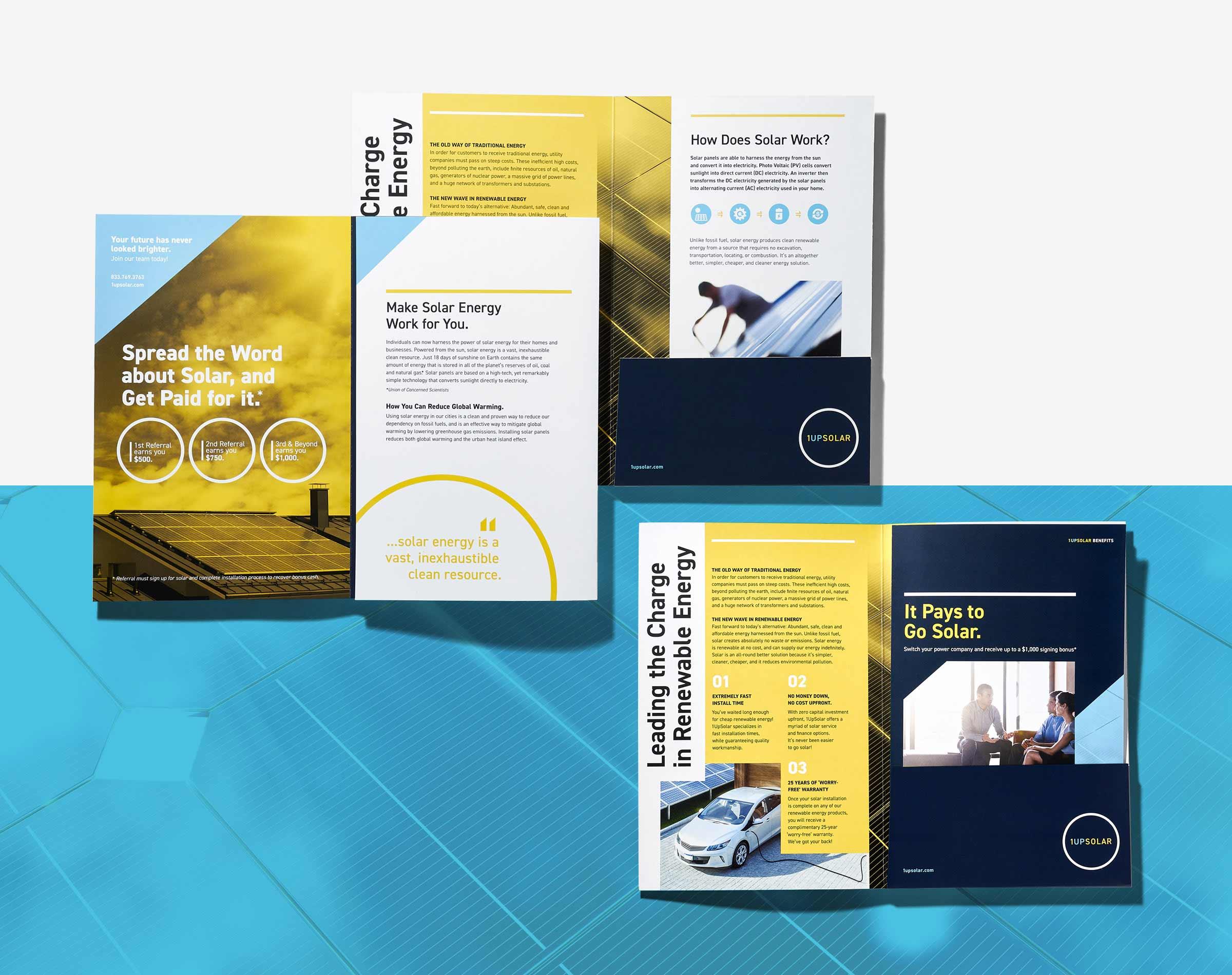 1UpSolar Brochure and Folder