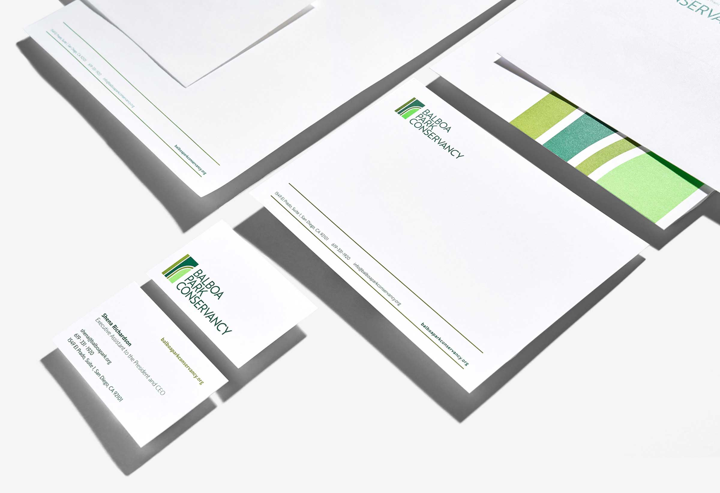Balboa Park Conservancy Communications Package Stationery