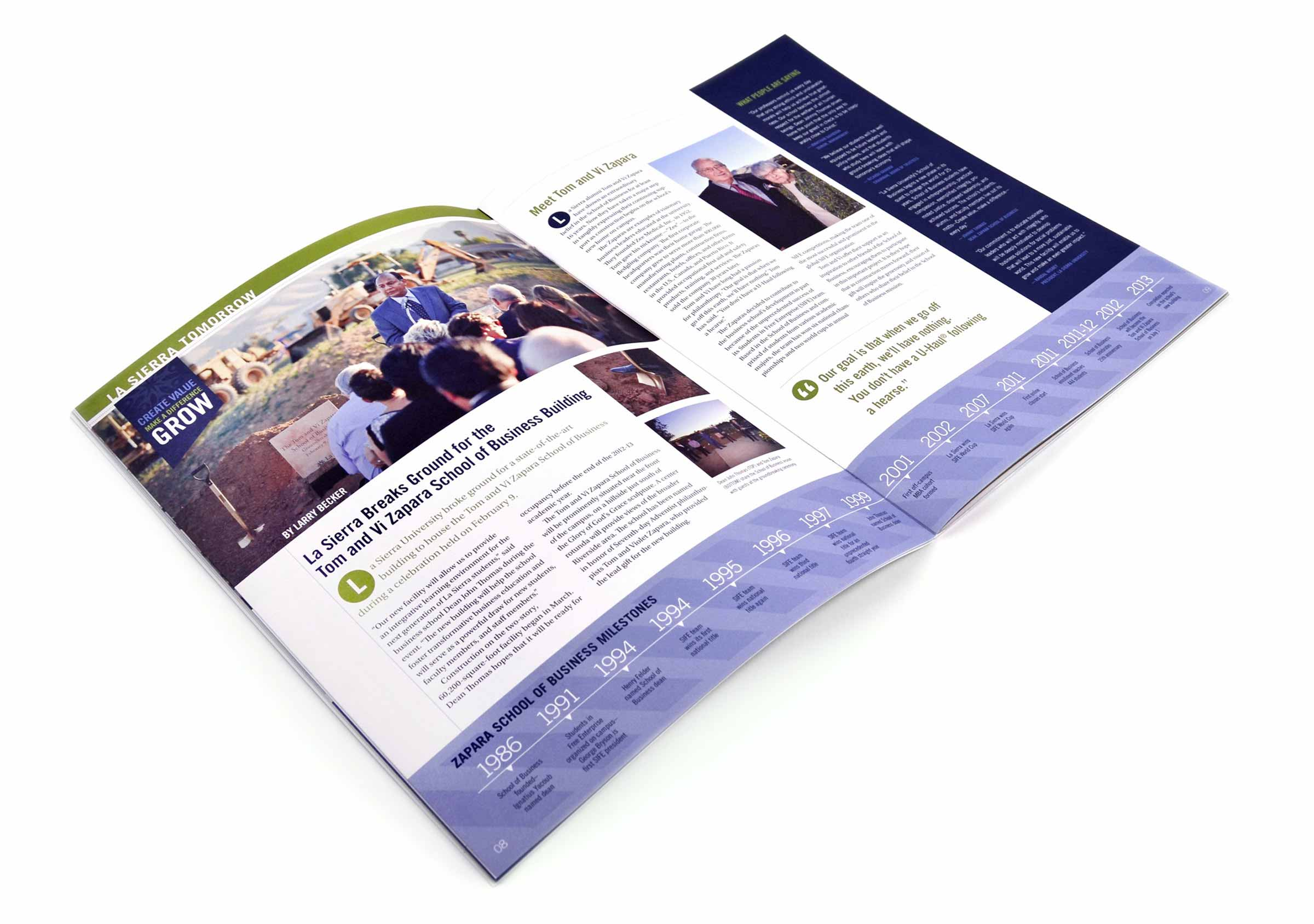 La Sierra University Editorial Magazine Spread