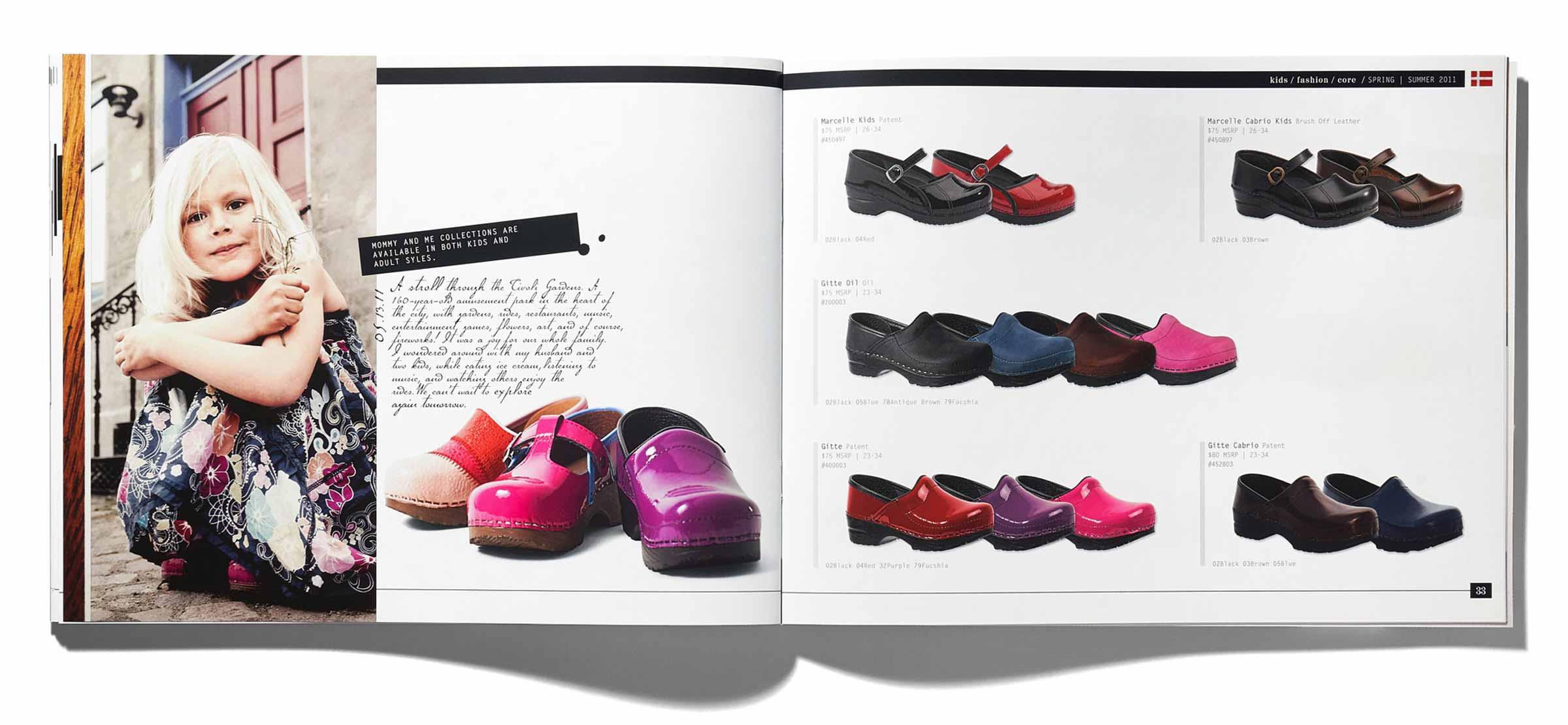 Sanita Shoes Catalog Spread