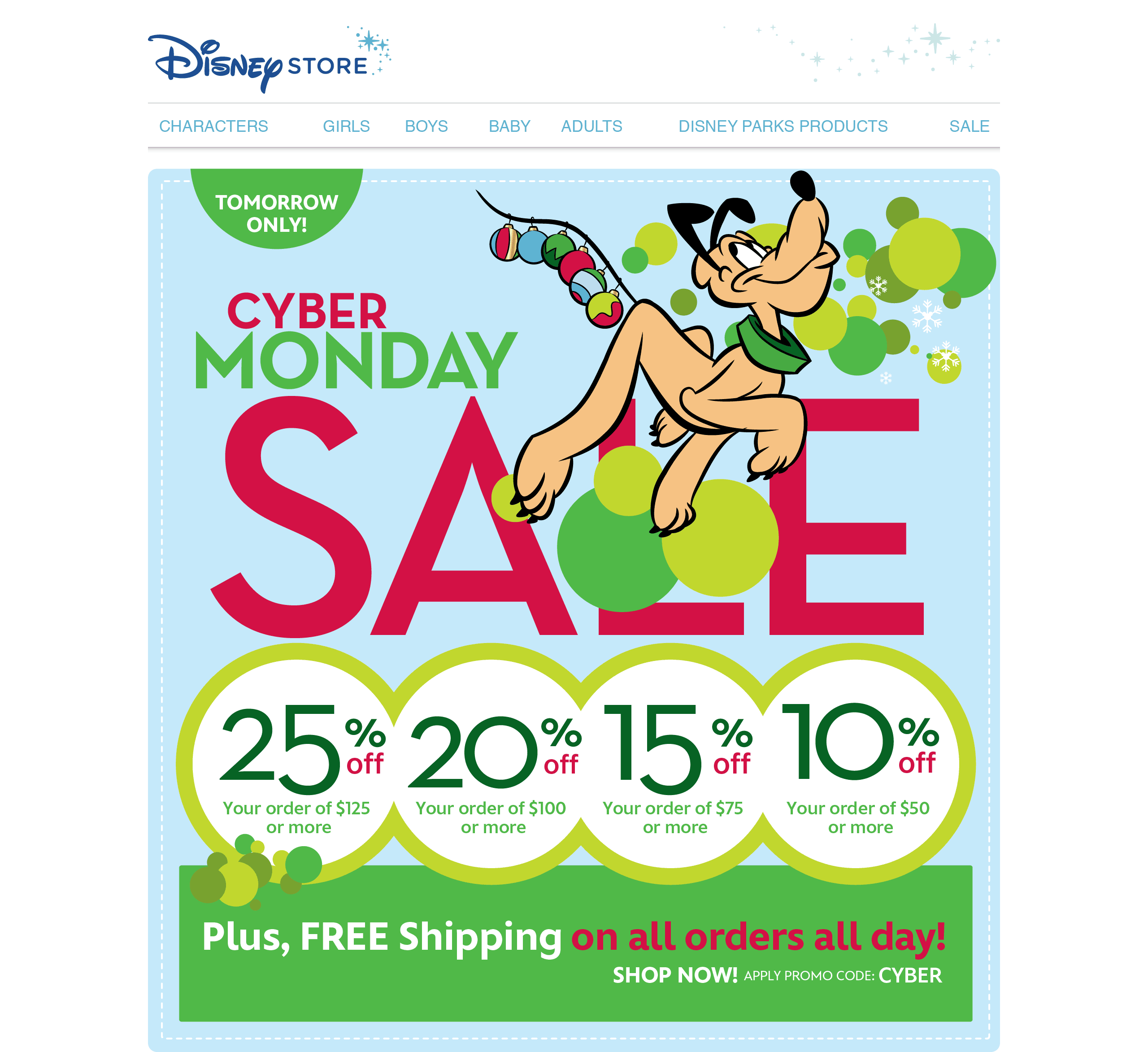 Disney Store North America Holiday Web Ad