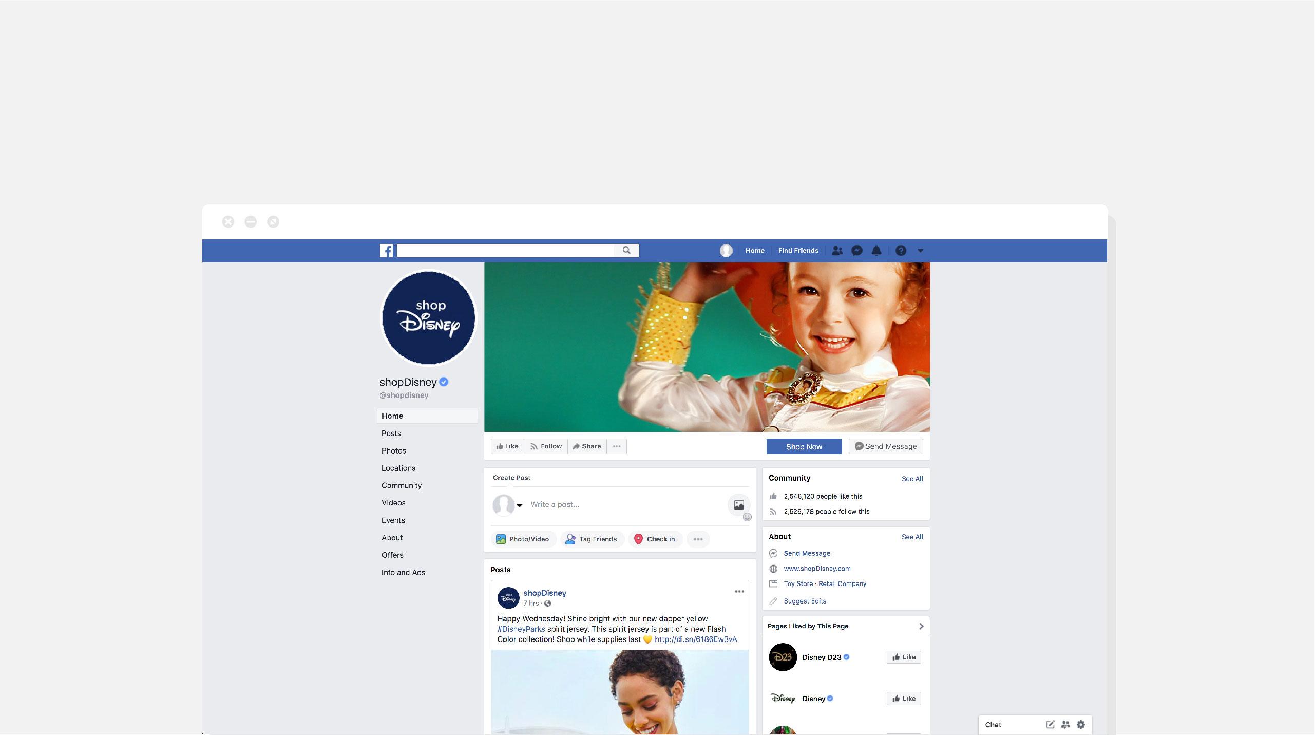 Disney Store North America Halloween Social Media Header