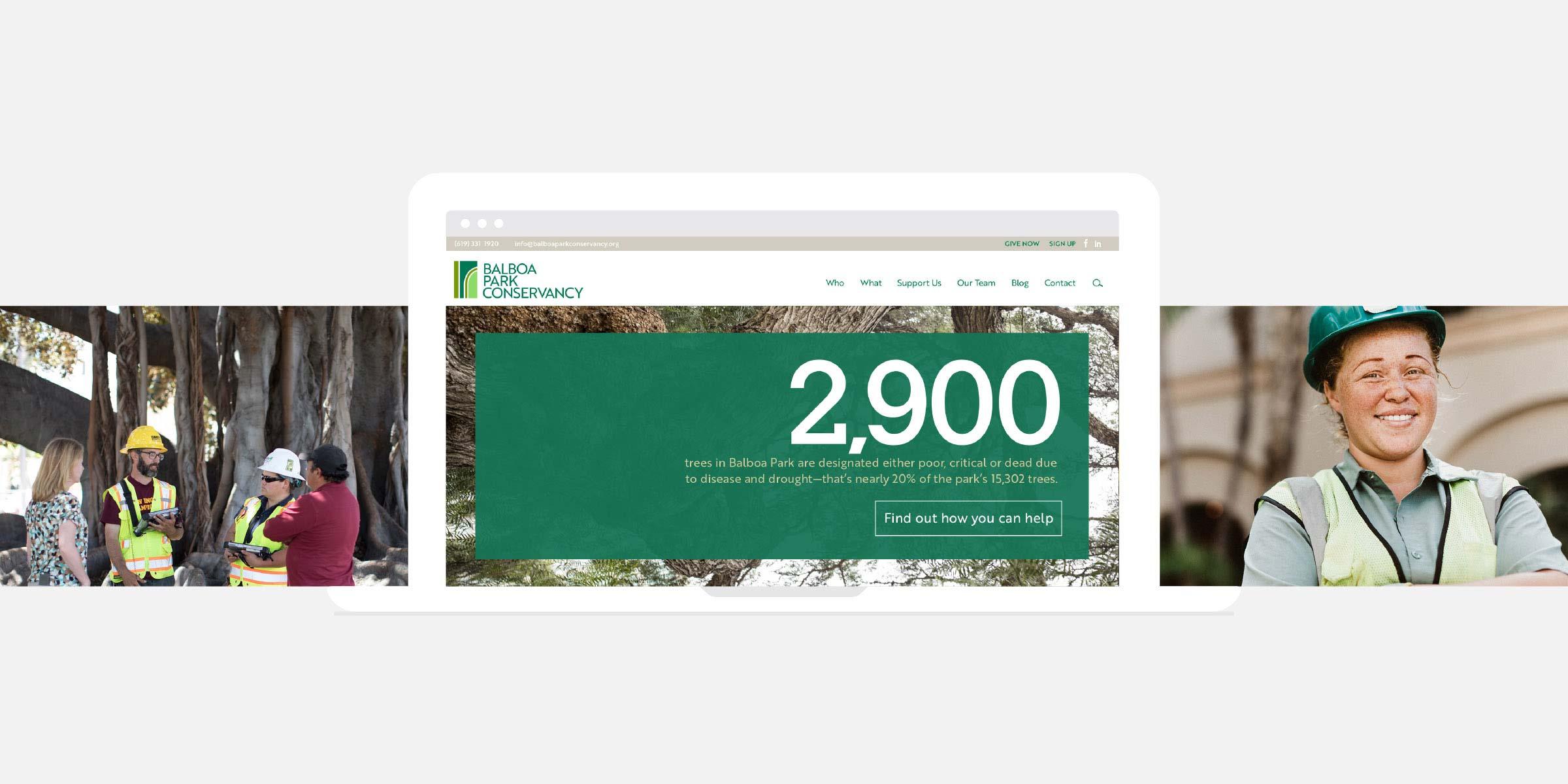 Balboa Park Conservancy Homepage Sliders