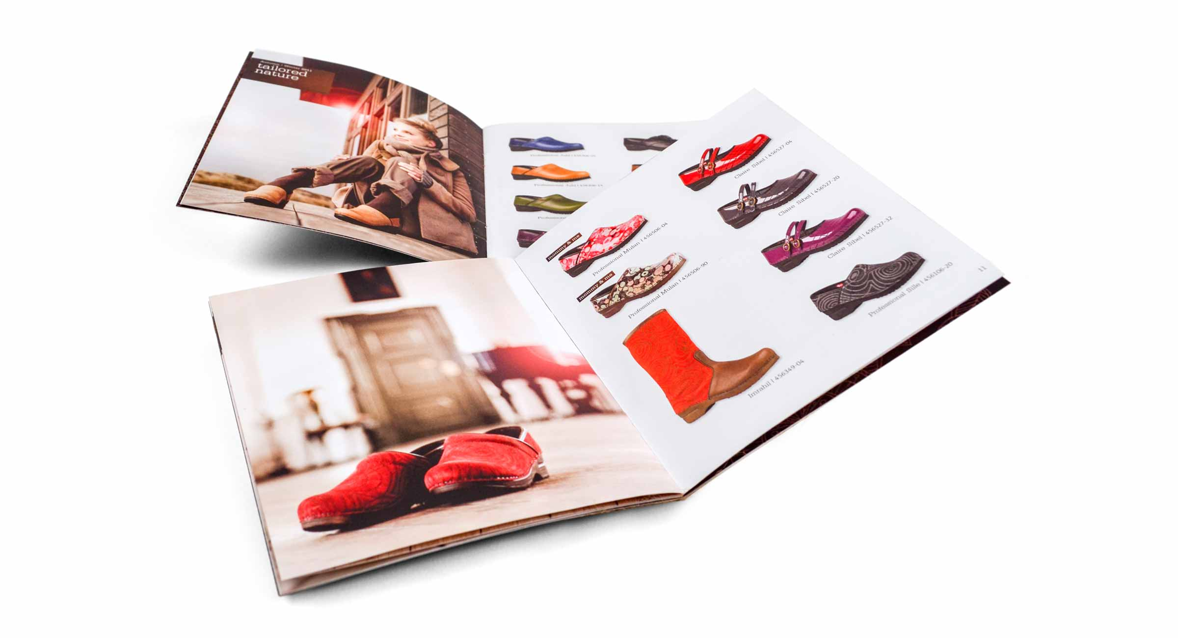 Sanita Shoes Catalog Spreads