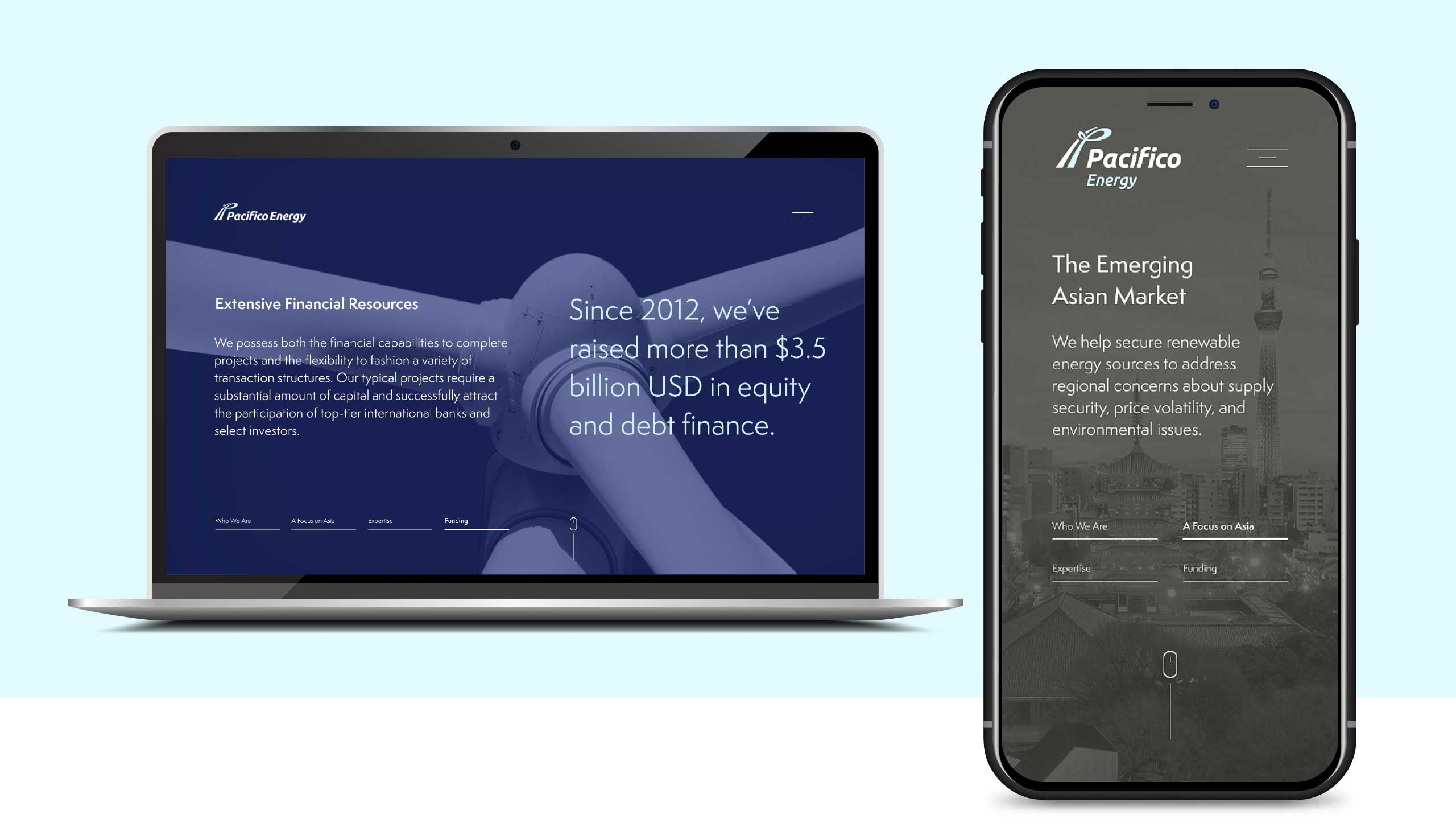Pacifico Energy Web and Mobile